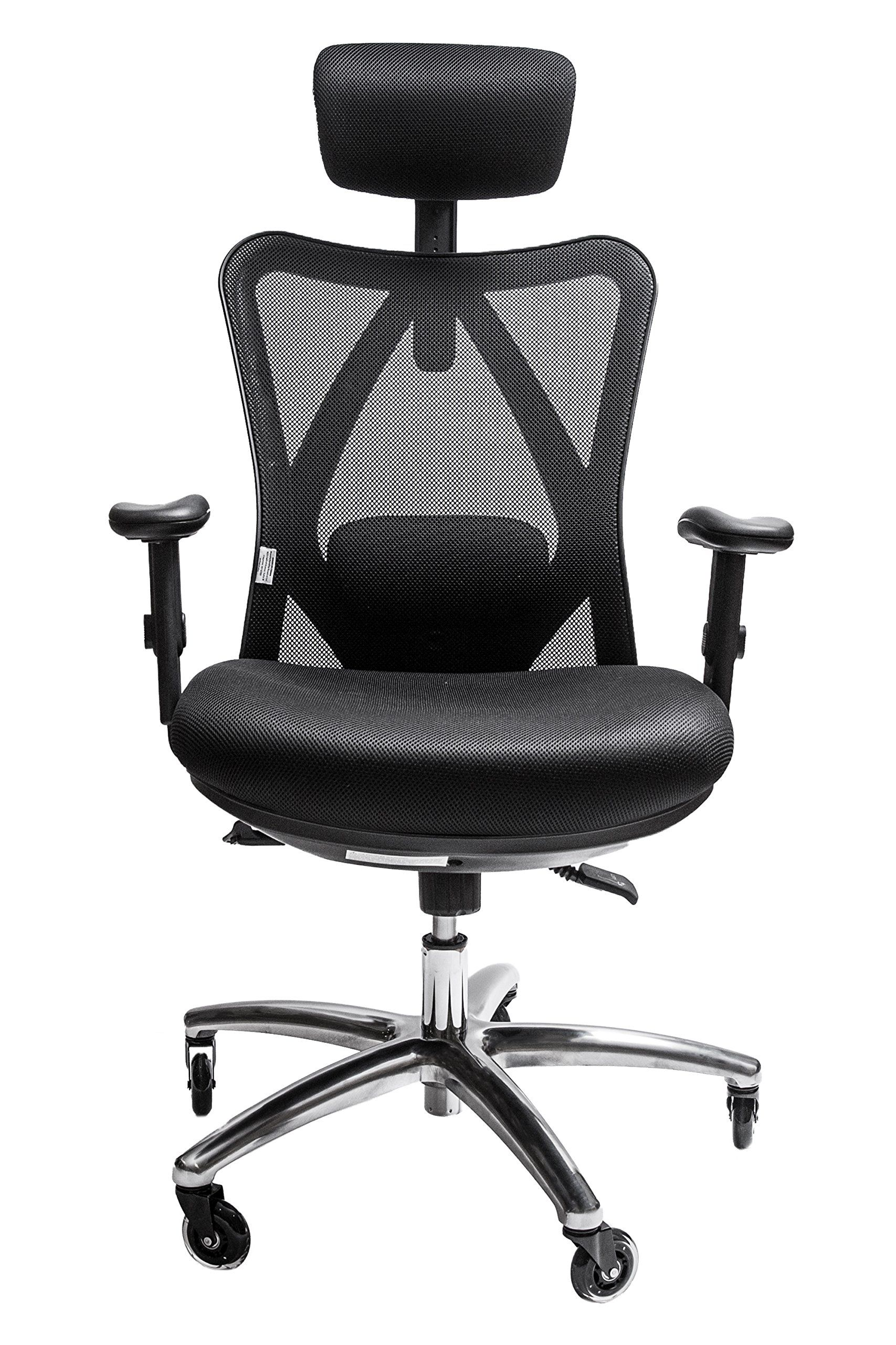 Office Chair Rollerblade Wheels Mlg Gaming Sleekform Ergonomic Adjustable With Lumbar Support And High Back Breathable Mesh Thick Seat Cushion