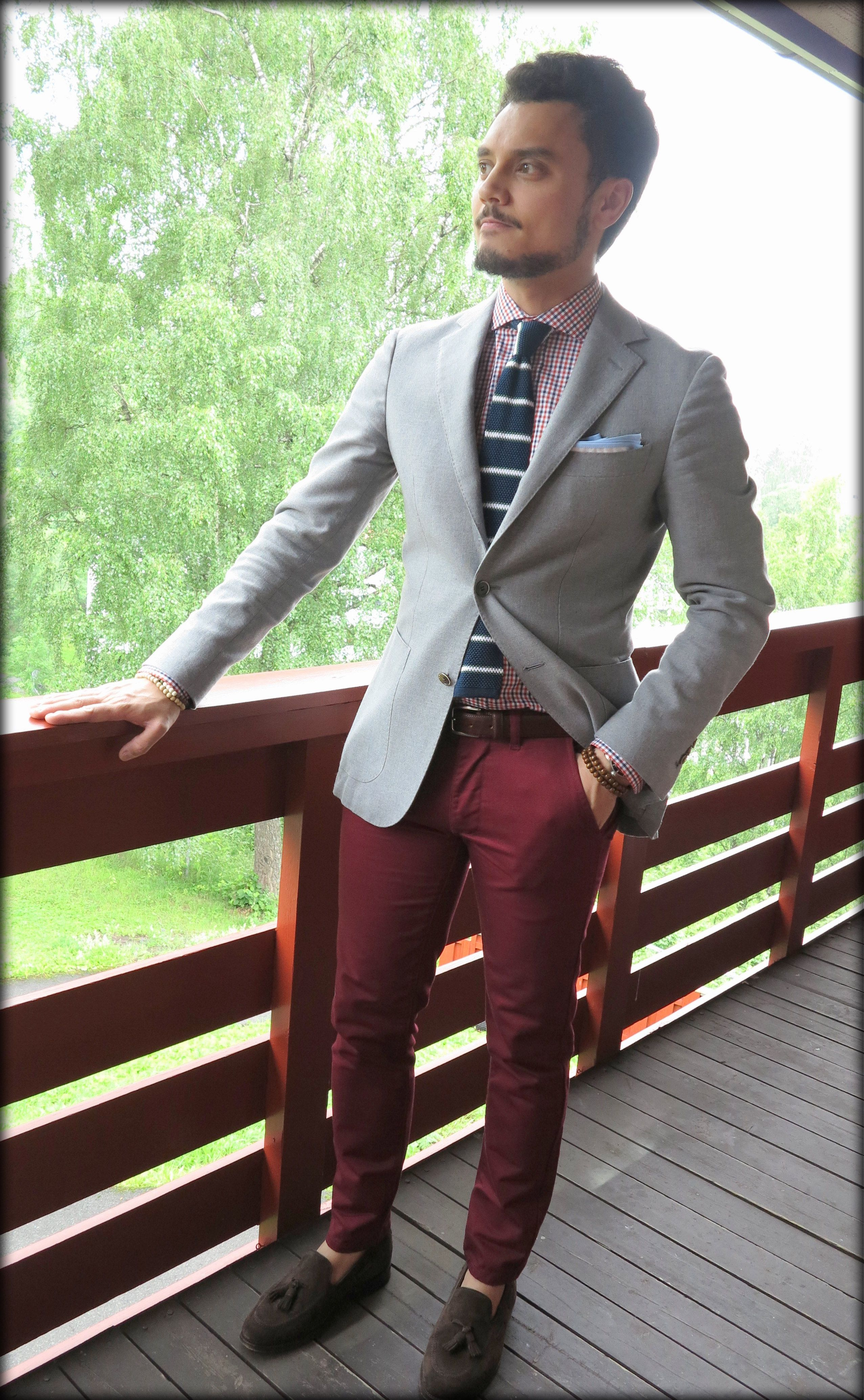 Burgundy Pants And Blue Shirt - Google Search | Men Suits | Pinterest | Burgundy Pants Burgundy ...