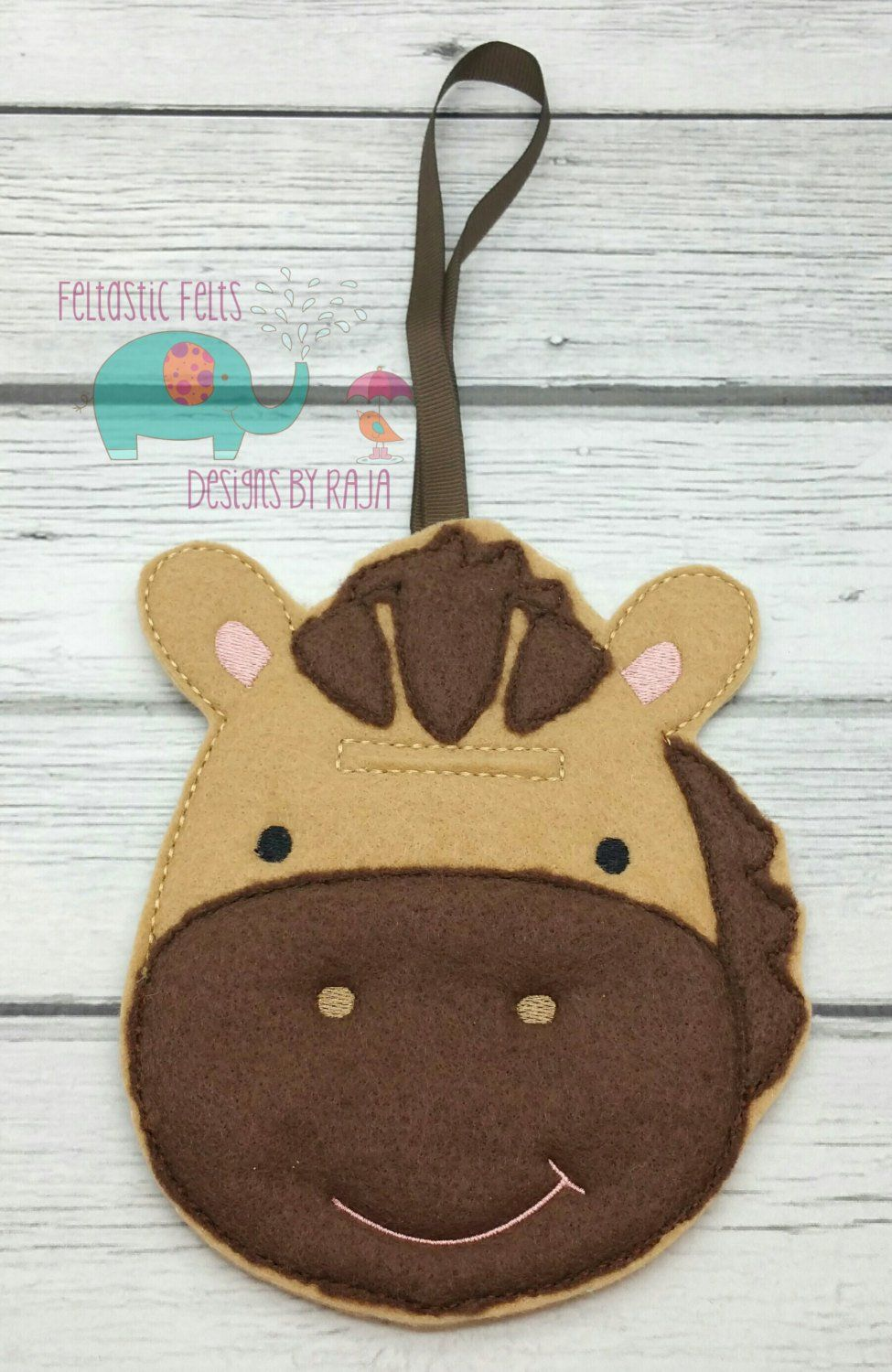 Horse Hanging Felt Unbreakable Piggy Bank Tooth Fairy Helpers Tooth Fairy Tooth Pillow Tooth Fairy Money