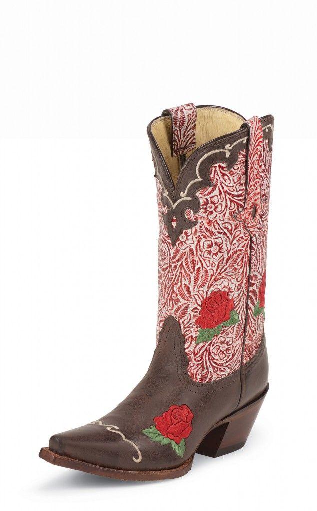 Tony Lama boots...I really like the red roses.