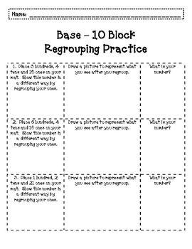 base ten regrouping hundreds base ten blocks students and number. Black Bedroom Furniture Sets. Home Design Ideas