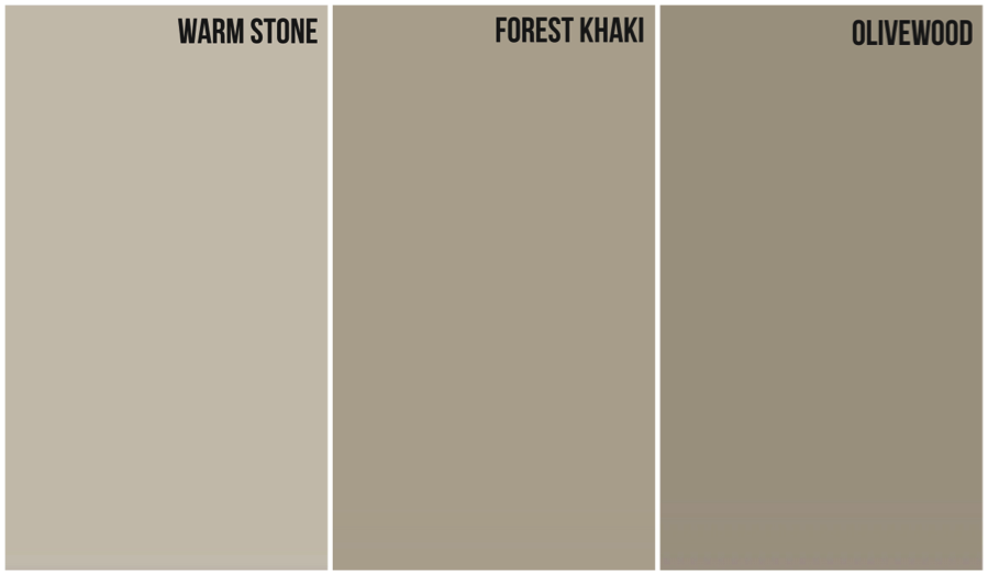 Tan With Warm Gray Undertone...House Color...Glidden