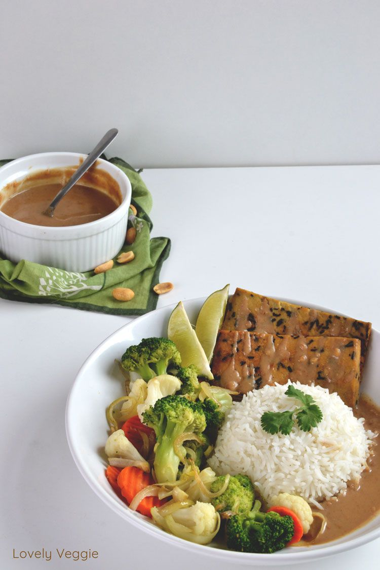 Tofu sauce satay (Vegan, sans gluten) - Powered by ...