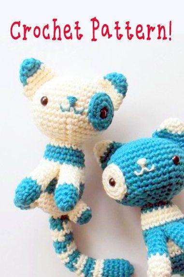 Cat Crochet Pattern Amigurumi Cat Pattern Kitten Crochet Pattern