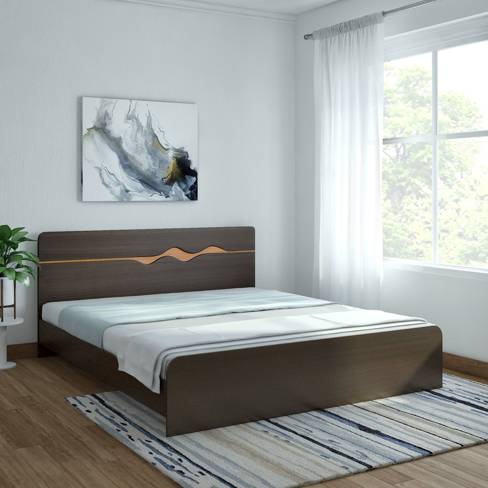 Hometown Swirl Without Box Storage Engineered Wood King Bed Price In India Buy Hometown Swirl Without Box S Grey Carpet Living Room Grey Carpet Carpet Colors