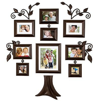 awesome 9 Piece Family Tree Wall Photo Frame Set hanging frames ...