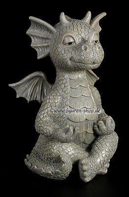 Lovely Garden Figure   Funny Dragon Doing Yoga   Garden Figure Fantasy Statue