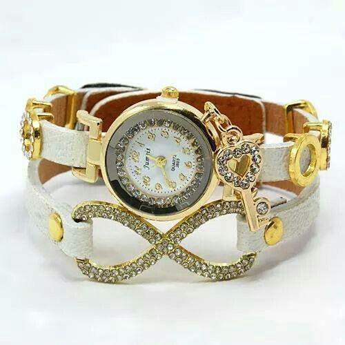 ♥ Leather Watch Multi-strand bracelets