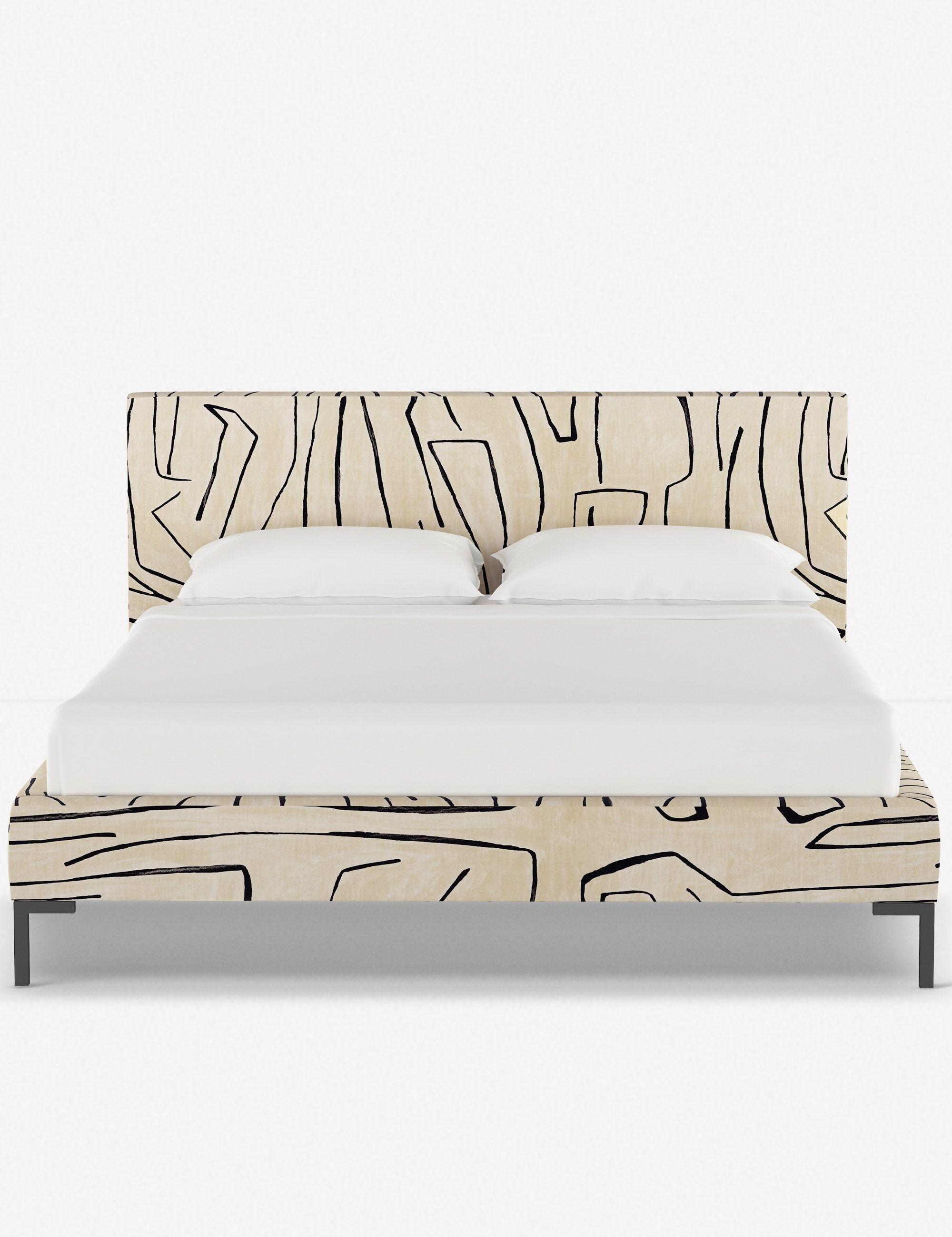 Deva Linen Platform Bed Linen Grafitto Bed Linen Inspiration