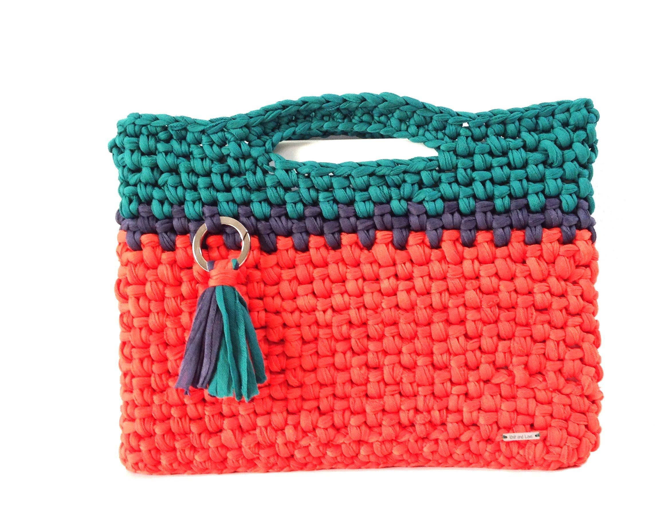 Bolsa ordenador crochet con trapillo pluma tutoriales for Tutoriales de trapillo