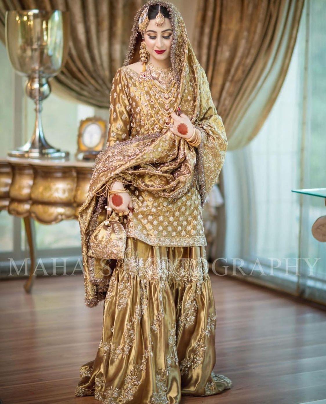 7f4a8ab2ab4f Tassu gudi Gharara Designs, Pakistani Dresses, Dulhan Dress, Pakistani  Wedding Outfits, Pakistani