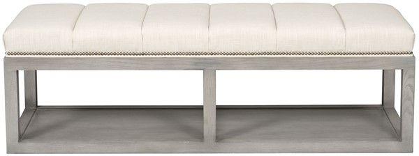 Vanguard Furniture: W58TWAB Wayland Thin Rectangular Wood   For End Of  Bed/Master Ottoman