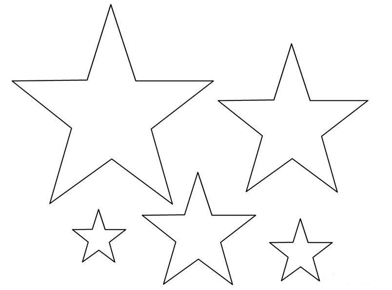 Resultado De Imagen Para Estrellas Para Colorear Moldes De Estrellas Estrellas Para Imprimir Dibujos De Estrellas