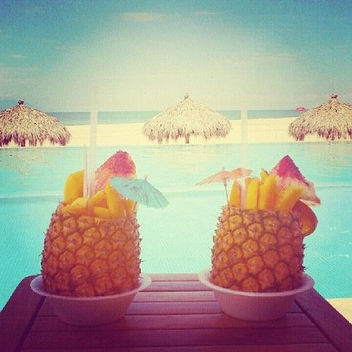 A Pristine Beach Warm Tropical Breezes And The Love Of: I Want To Sip Alcohlic Beverages Out Of Fruit While