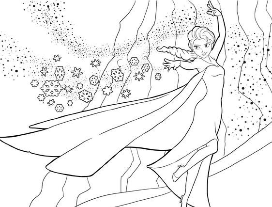 FREE Disneys Frozen Coloring Pages