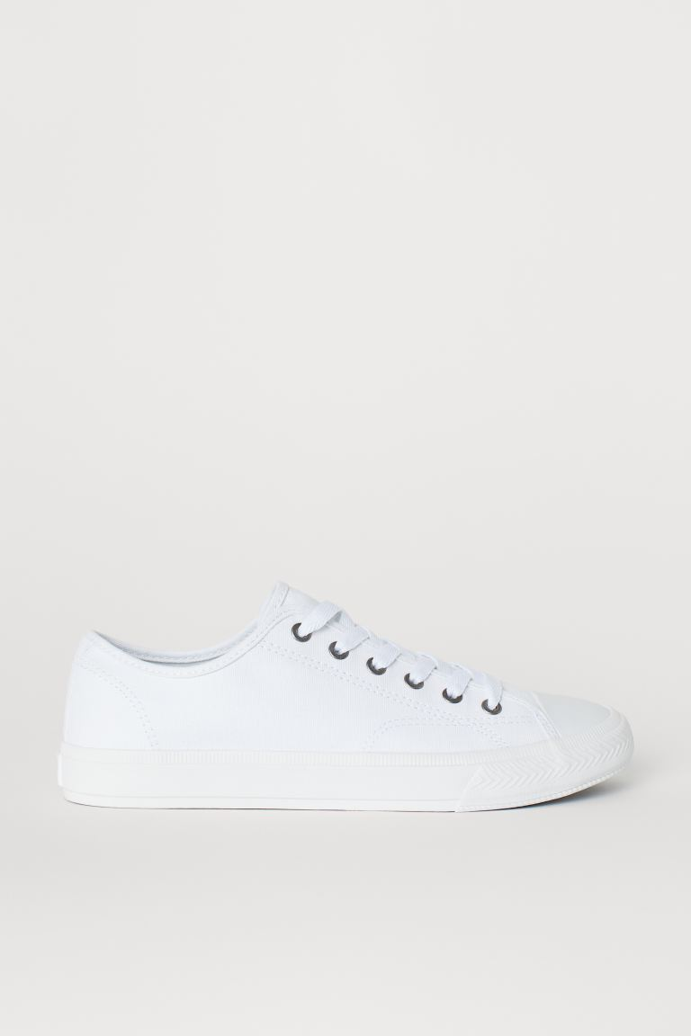 Plocienne Buty Bialy On H M Pl In 2020 Canvas Shoes Shoes Sneakers