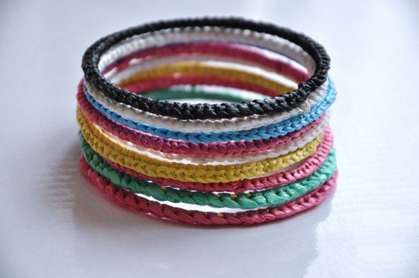 Recycled Plastic Bags Bracelets Reuse