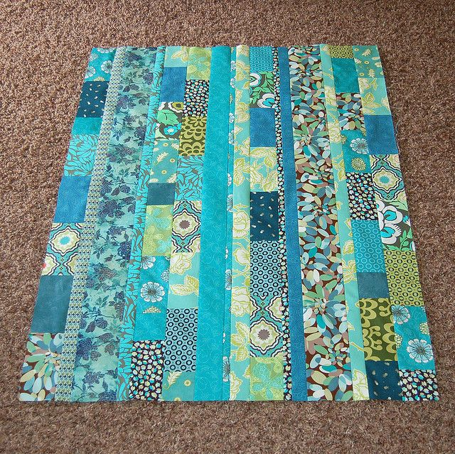 turquoise quilt top | Scrap, Fabrics and Strip quilts : one color quilts - Adamdwight.com