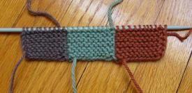Intarsia tutorial in garter stitch.