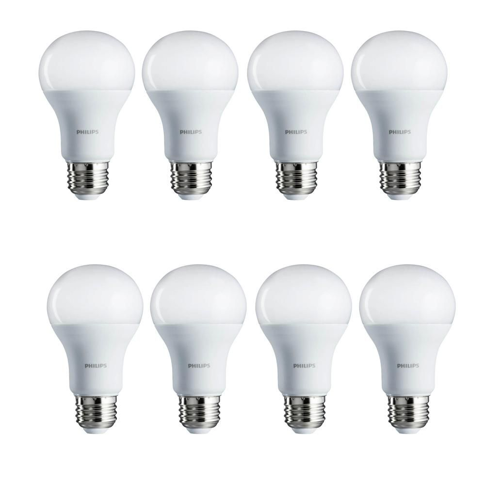 Philips 100 Watt Equivalent Daylight Led Light Bulb 8 Pack 462002 The Home Depot Led Light Bulb Light Bulb White Light Bulbs