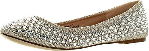 De Blossom Womens Baba1 Dress Fashion Flats ShoesNude75 >>> Click affiliate link Amazon.com on image for more details.