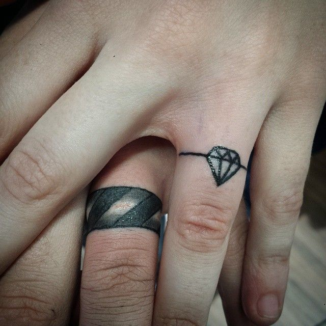 150 best wedding ring tattoos designs 2017 collection part 2 - Tattoo Wedding Rings