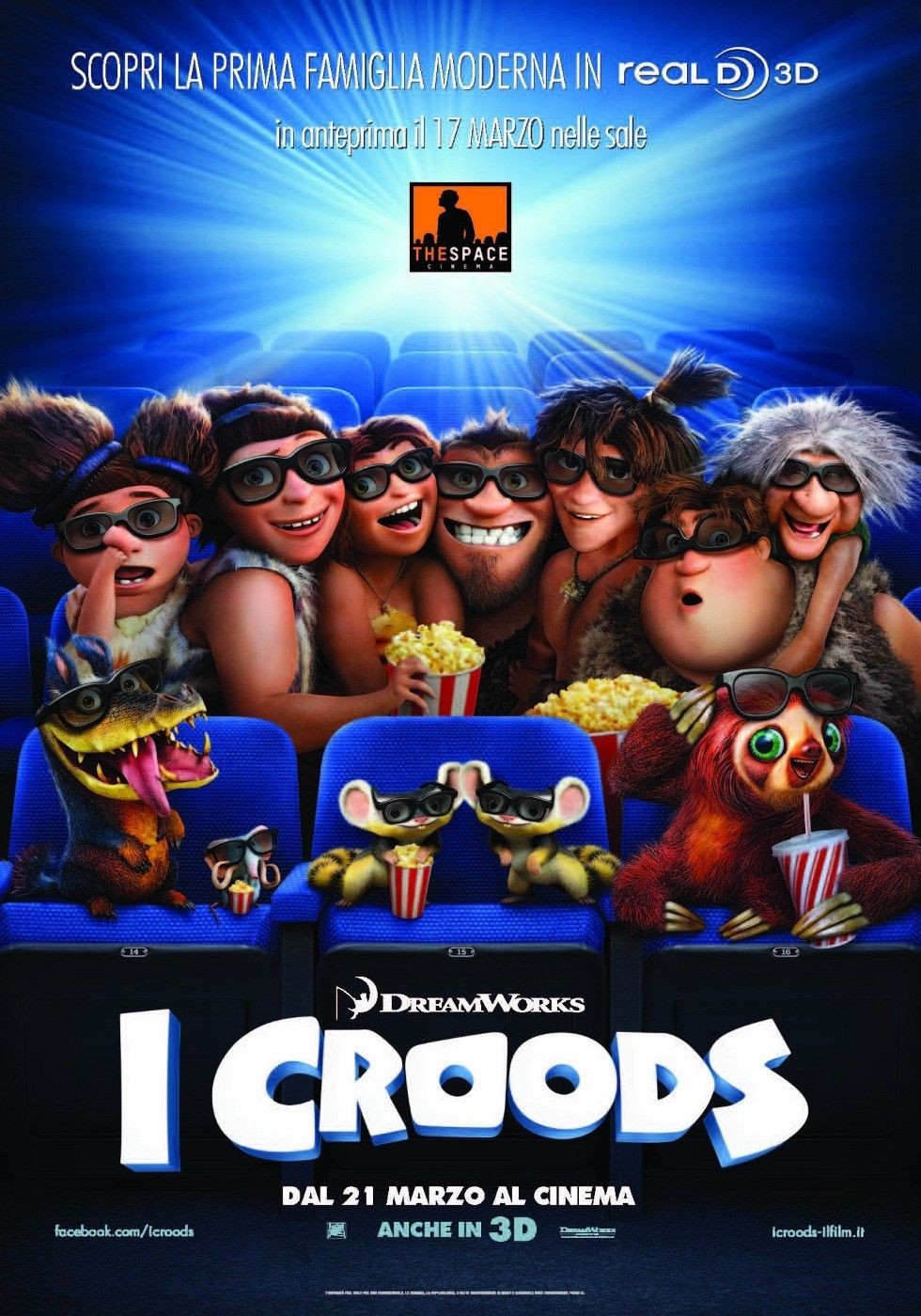 the croods hit the movies in poster 15 for the animated adventure