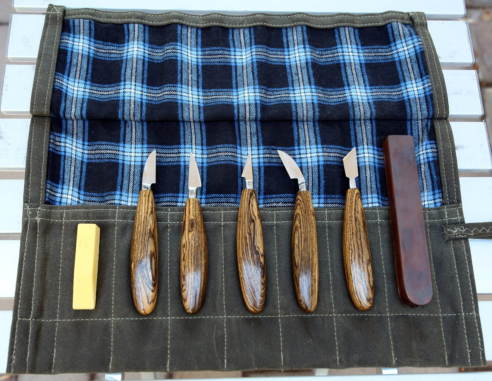 Forged wood carving knives part of intro wood stabilization