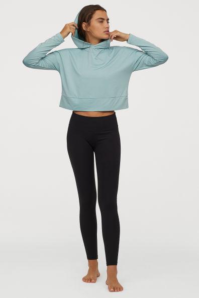 Legginsy Do Jogi Shaping Waist Czarny Ona H M Pl Yoga Tights Fitness Fashion Shape Waist