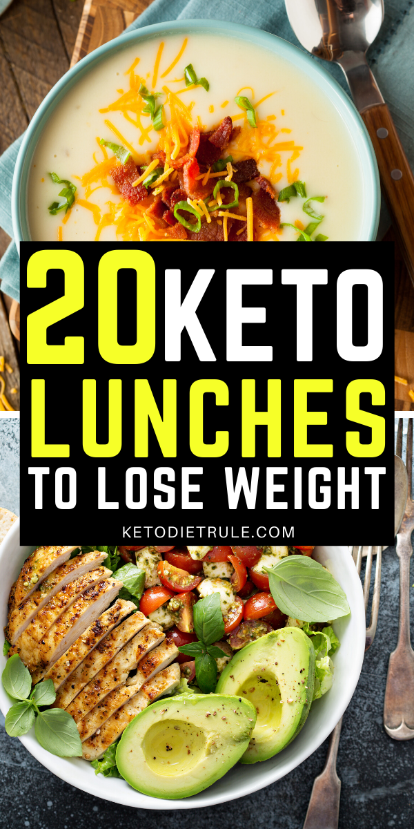 20 Keto lunch ideas that you help you lose weight. Easy, and delicious low carb lunch recipes for y