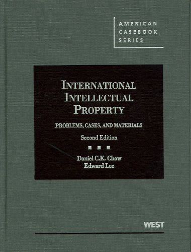 International Intellectual Property Problems Cases And Materials 2d American Casebook Series Law Books Environmental Law Criminal Law Cases
