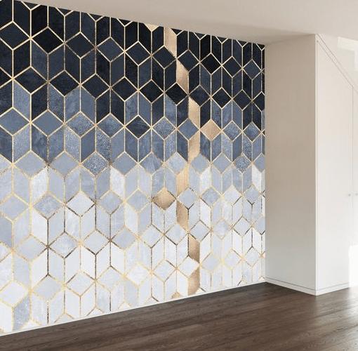 25 Diy Tape Mural Wall Art Paint Ideas Painters Tape Design Wall Painters Tape Wall Tape Wall Art