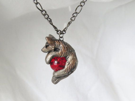 Wolf necklace pendant rear view mirror dangle charm unique cute and wolf necklace pendant rear view mirror by foxcraftcreations mozeypictures Choice Image