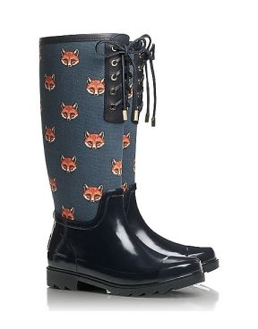 4ff6e0279d00 Fox Lace-Up Rainboot  Tory Burch