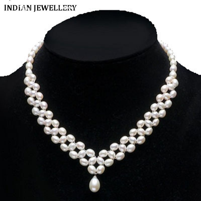 dc8102258de24 Multi-Layer Fresh Water Pearl Necklace | Roohi | Pearl Necklace ...