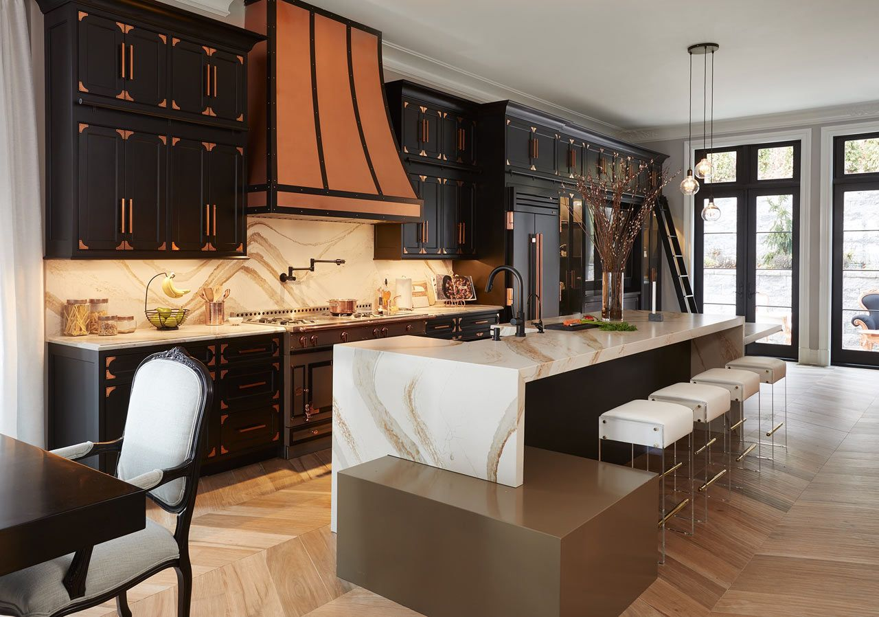 Vanessa Deleon Became Her Own Client When She Designed A 4 000 Square Foot Townhouse Kitchen Design Trends Kitchen Cabinets And Countertops Luxury Refrigerator