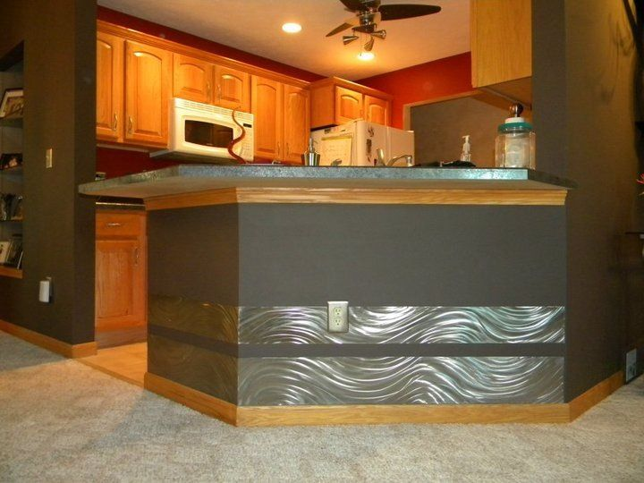 Beau Stainless Steel Kick Plate Custom Made For Breakfast Bar By Tom Altiere Jr.