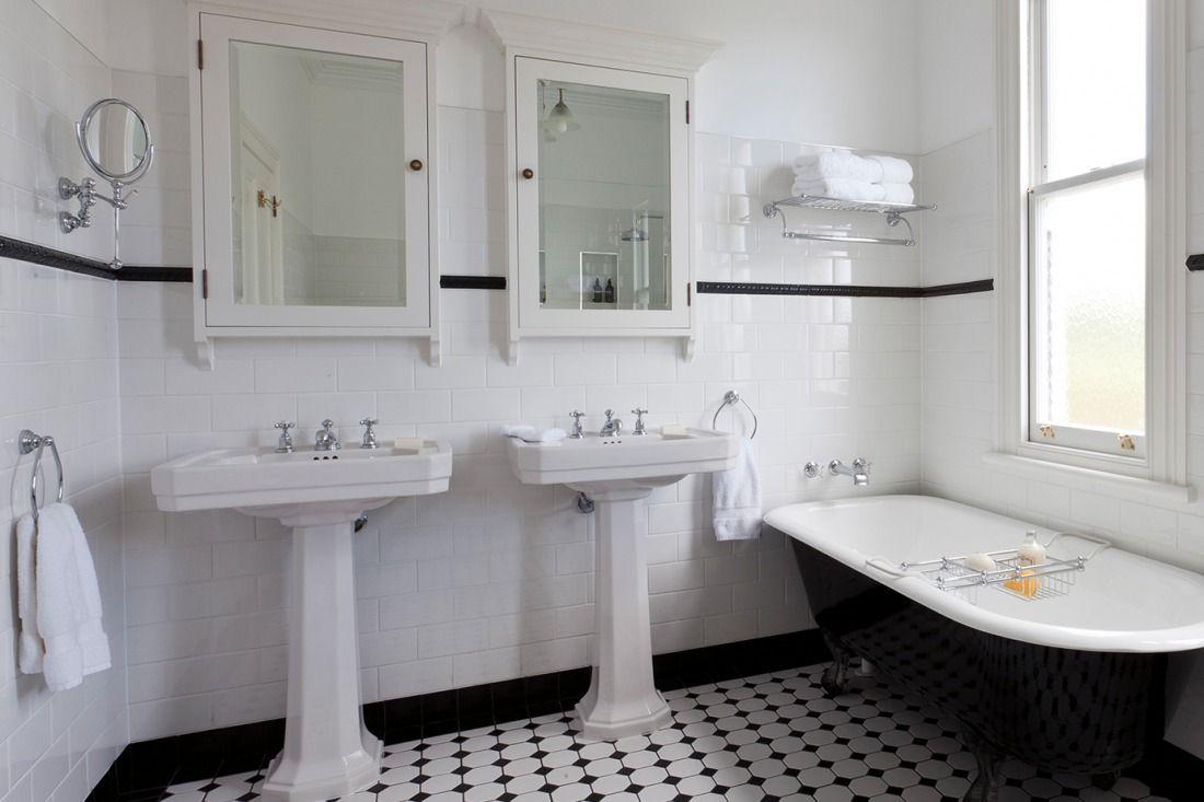 Detaljerna som gör ett svart-vitt art déco-badrum - Sköna hem ...