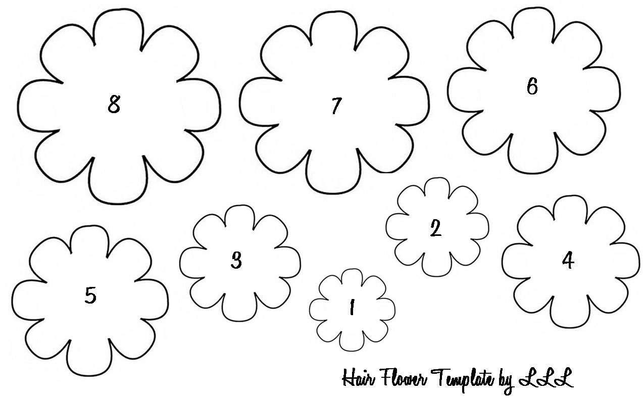 Baby Hair Flowers Flower Templates Printable Flower Templates