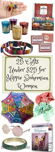 Gifts Under $25 for Hippie Bohemian Women 2016 Gift Guide for Hippies /Bohemians  sc 1 st  Pinterest & 25 Christmas Gifts Under $25 for Hippie Bohemian Women 2016 Gift ...