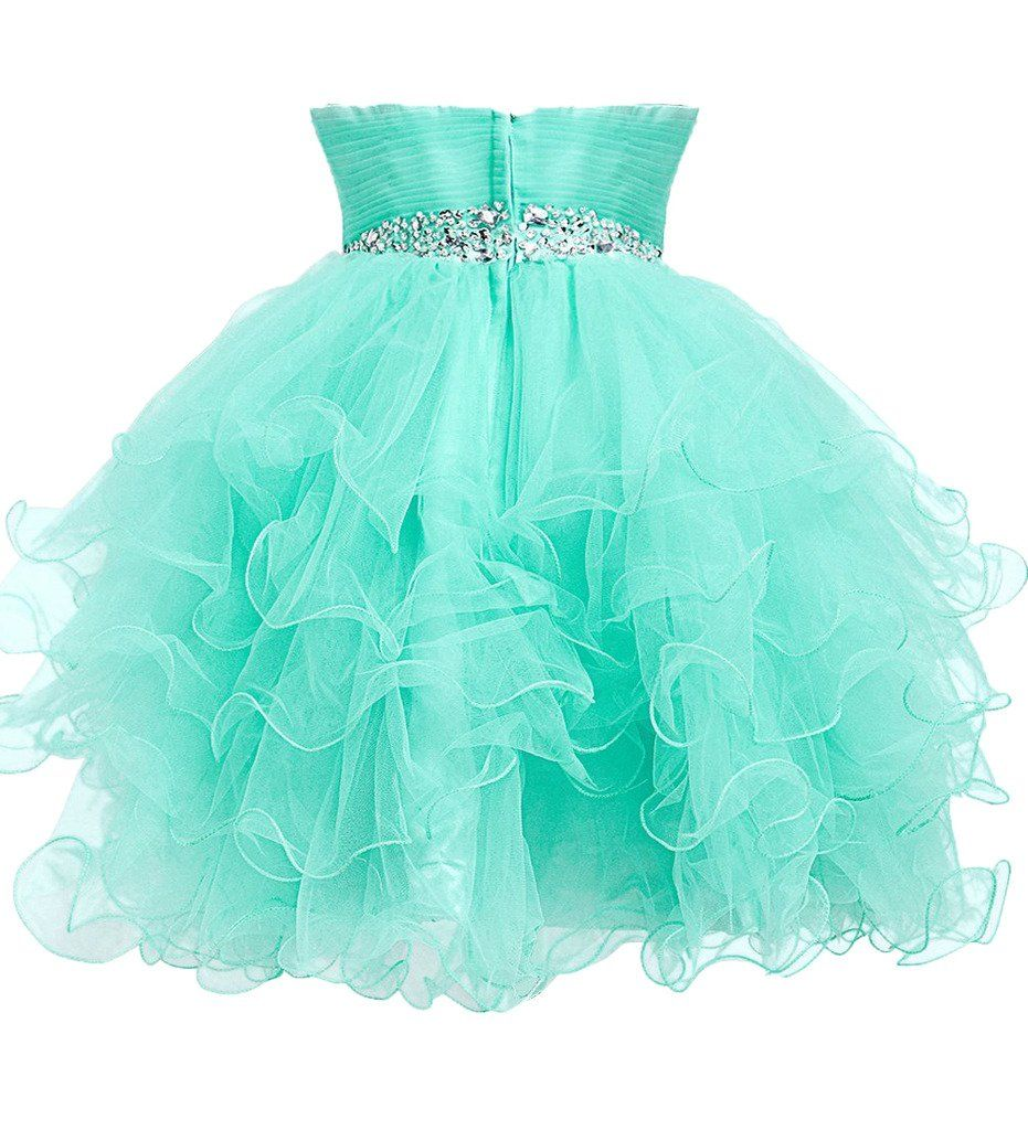 Dress U Strapless Homecoming Dresses Organza Cocktail Party Prom ...