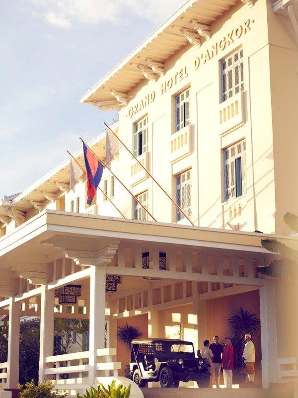 Raffles Grand Hotel D Angkor Siem Reap An Oasis In Khmer For The Luxury Traveller Grand Entrance Www Raffles C Inside Outside Magazine Grand Hotel Retreat