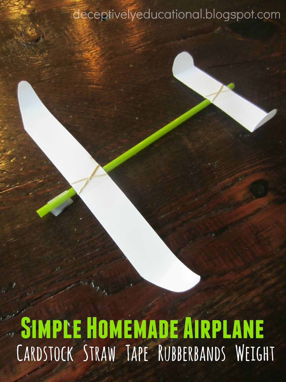 Relentlessly Fun, Deceptively Educational: Simple Homemade Airplane #summerfunideasforkids