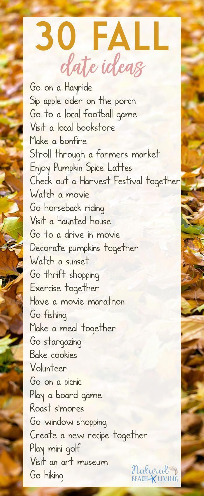 Fun Date Night Ideas for Fall, Cheap Date Night Ideas, Fall Bucket List, Great D