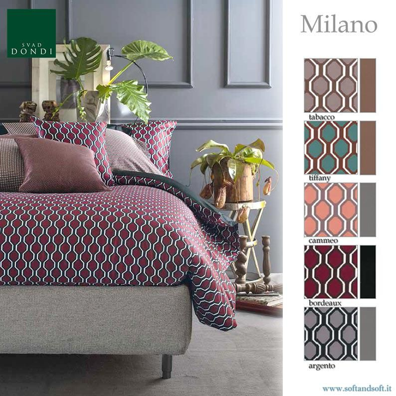 Copripiumino Matrimoniale Design.Milano Parure Sacco Copripiumino Matrimoniale Raso Cotone Svad