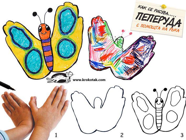 Handprint Butterfly Krokotak Handprint Butterfly Handprint Art Arts And Crafts Projects