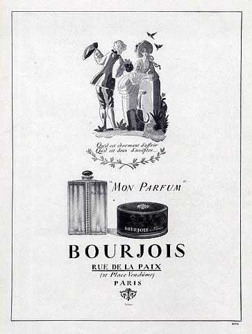Bourjois Perfumes 1924 Mon Parfum Vintage Adverts Perfume