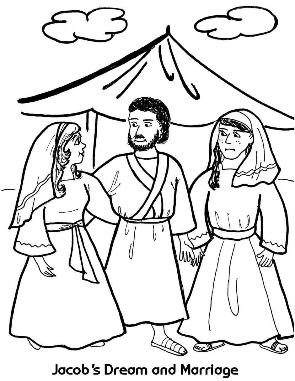 Jacob S Dream And Marriage Bible Coloring Pages Bible Coloring