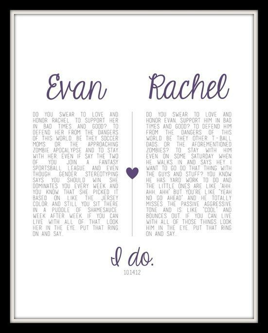 I Like The Vows Side By And Framed 3 Never Forget Exactly What You Promise Or Love That Started It All