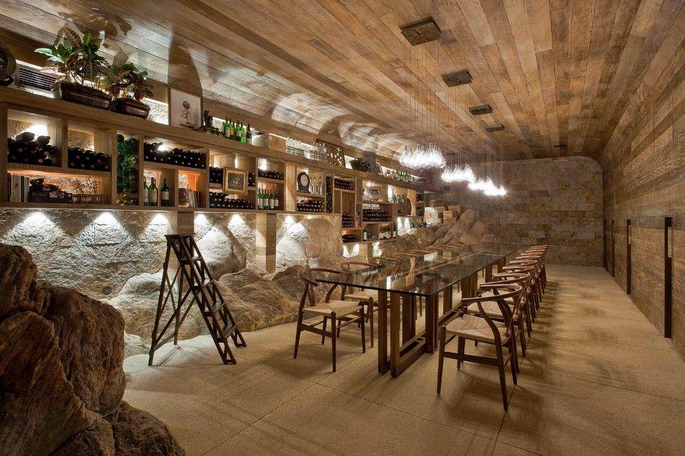 Montain Home - contemporary - wine cellar - other metro - Eduarda Correa Arquitetura u0026 Interiores & Montain Home - contemporary - wine cellar - other metro - Eduarda ...